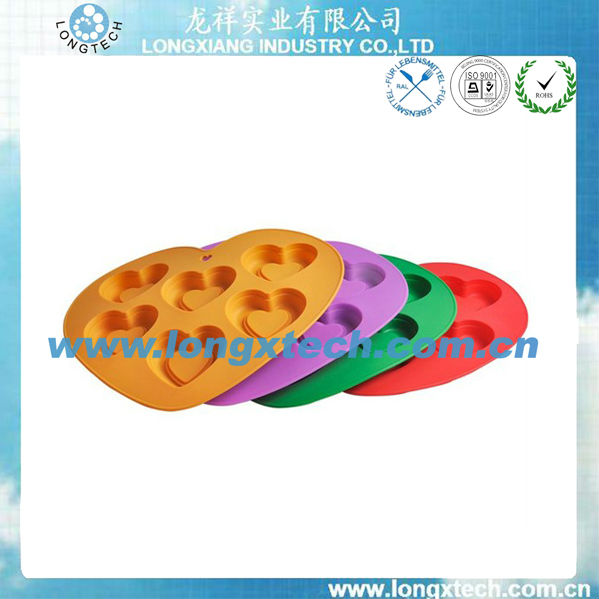 different shape food grade silicone moldes dos doces