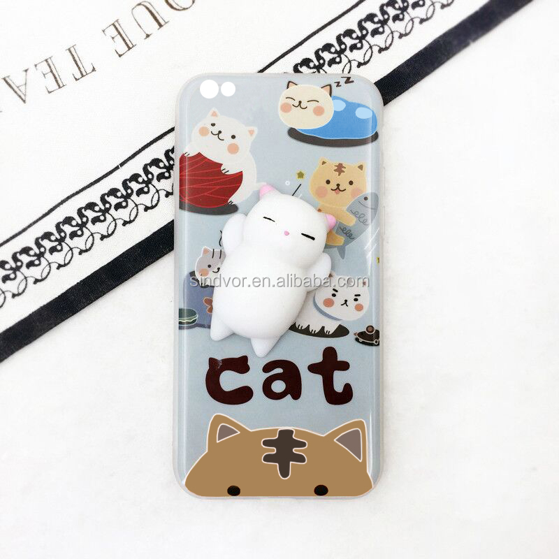 Lovely Reduce Pressure Squishy Phone Case For Iphone5/iphone6/iphone7