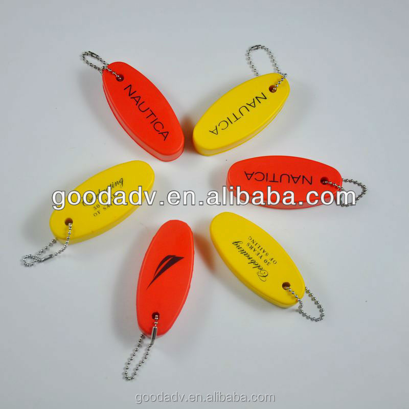 New arrival promotion gift Customized oval shaped floating keychain
