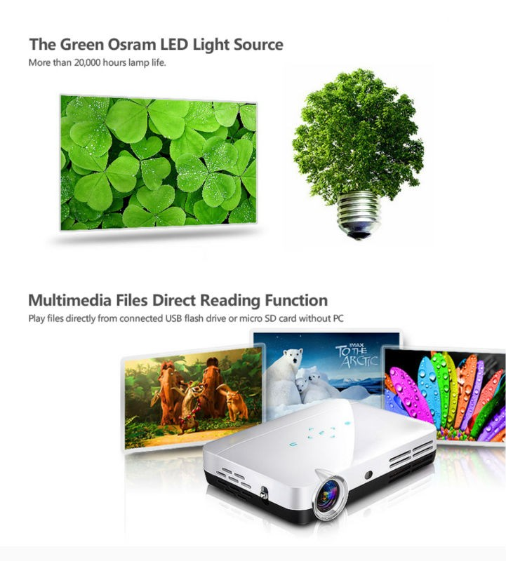 1080P 3D Projector LED DLP Home Theater Projector Z2 With 600ANSI lumens