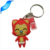 3D CUSTOM SHAPED SOFT PVC KEYCHAINS