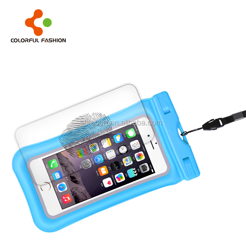 IPX8 Full screen fingerprint unlock mobilephone waterproof phone bag floating swimming waterproofbag for phone