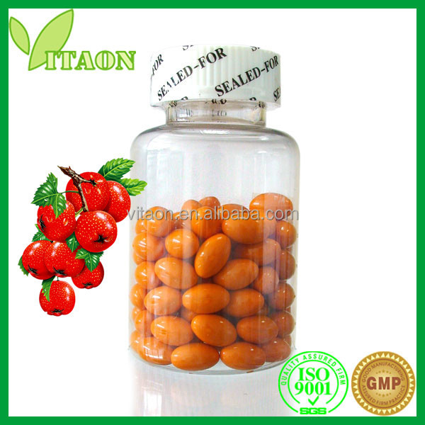500 mg ISO GMP Certificate and OEM Private Label Hawthorn Berry Softgels