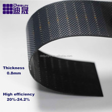 Ultrathin Ultralight high efficiency china solar panel, Thickness 0.8mm thin solar pane 0.58W-140W