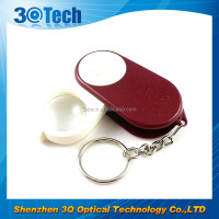 DH-82012 portable led pocket magnifier foldable keychain magnifier