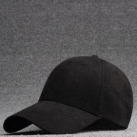 Wholesale stock plain blank custom personalized black new arrival suede baseball cap