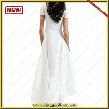 Floor-length evening dress white long dresses
