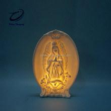 Christmas Ceramic Religion Holy Family for Decoration with LED lights