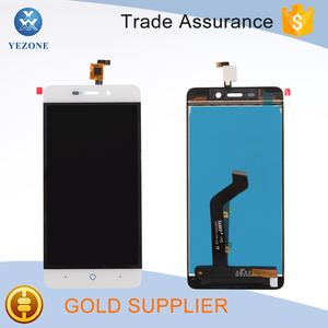 Touch Screen Digitizer Pantalla Display for ZTE Blade X3 A452 LCD and Touch Screen white
