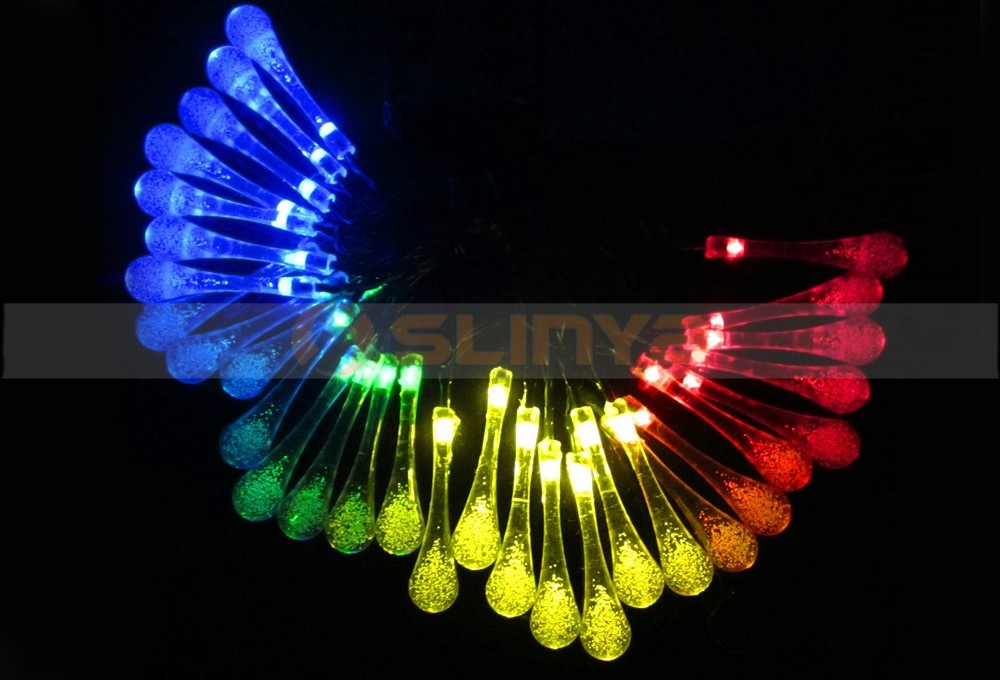 Waterproof Water Drop String Lights LED Fairy Light For Wedding Festival Outdoor Decor