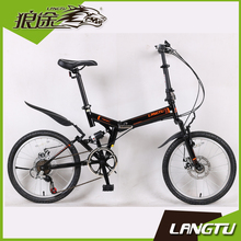 Langtu TB027 folding bike 20inch 7 speedNew Products hot sales Mini Bicycle bicycle suspension mountain