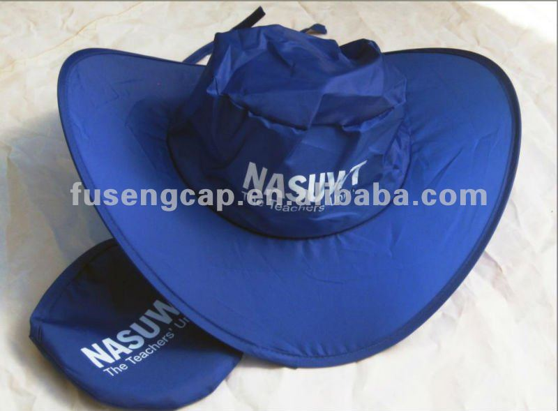 polyester foldable mountaineering Folding sun hat cap