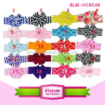 2015 baby elastic fabric top baby headband girls hair band kids knot baby headband for girls