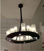 Home Vintage chandelier LED suspension lights candle shade chandelier table shade chandelier romantic pendant lamp for hotel