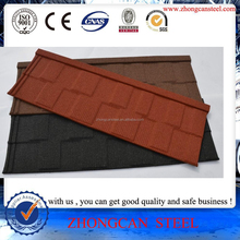 Stone coated steel roofing tiles , Stone coated Shingle Tiles , Mukuti Grained Tiles