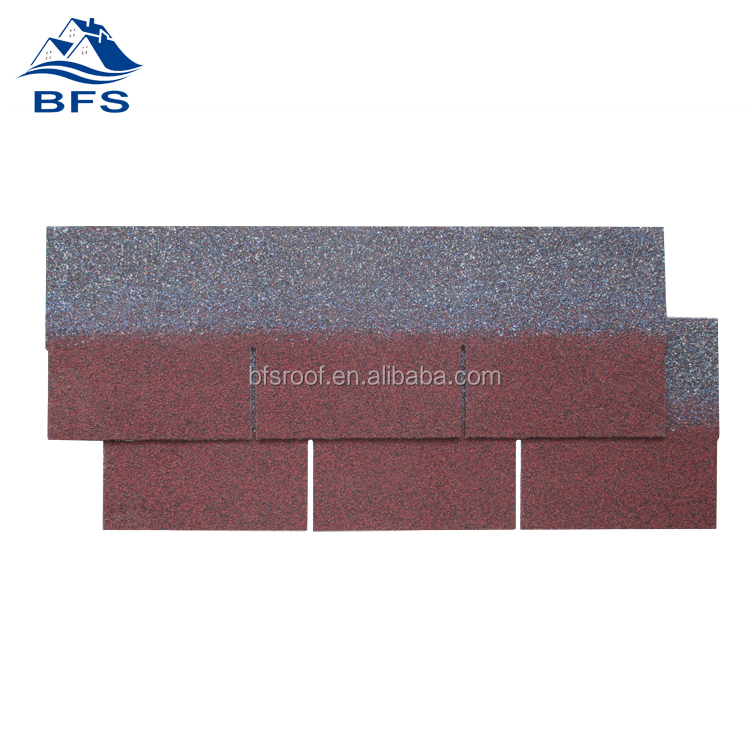 1000mm*333mm cheap red norway asphalt shingle for Sheds