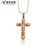 Xuping Popular Cross Pendants for Women High Quality Top Sale 18K Gold Plated Charming Jewelry Gift Promotion32081