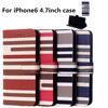 The hot new cellphone case for apple iPhone6 4.7inch stand flip wallet case