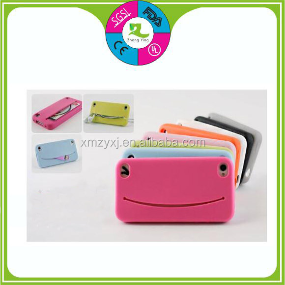 Hot sell Candy colors Soft silicone pocket phone cover
