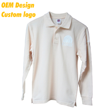 Custom Promotion Design 100% cotton Long Sleeves men Polo T Shirt