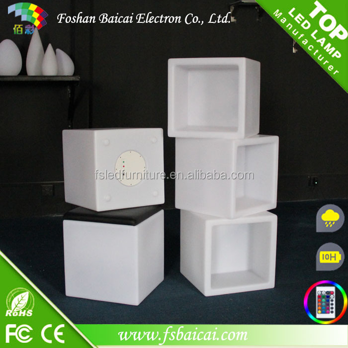 led cube shelf / LED wine cabinet