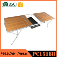 3 Aluminum Barbecue Folding Table and Chairs, korean bbq grill table, 3 aluminum folding table