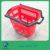 plastic rolling shopping basket with wheels