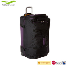 Wholesale New Style Convenient High Quality Polyester Black Travel Bag with Wheels