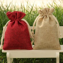 promotional jute bag small fabric drawstring bags