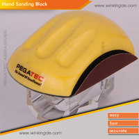 PEGATEC yellow rectangle handle pads for velcro sanding block