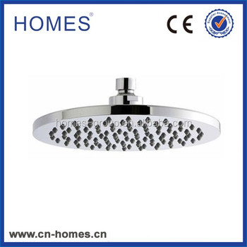 200mm Round Shower Head with Swivel Joint palstic (ABS) chromed