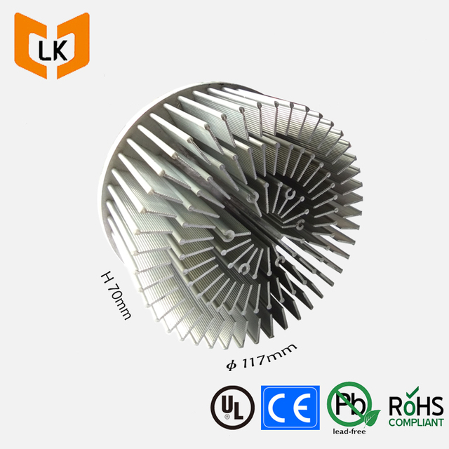 Cooling LED light fin large aluminum heat sink extrusion