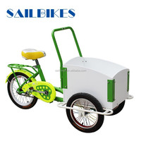 strong frame bikes cargo tricycle with two front wheels for kids