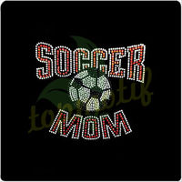 Cool soccer MOM iron on transfer design for car window,cheap iron on motif