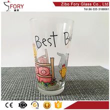 Customizable wholesale printed glass 1 custom pint beer glass