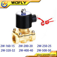 12V DC 1/2' Brass Electric Solenoid Valve Water Air Fuel Gas Normally Closed