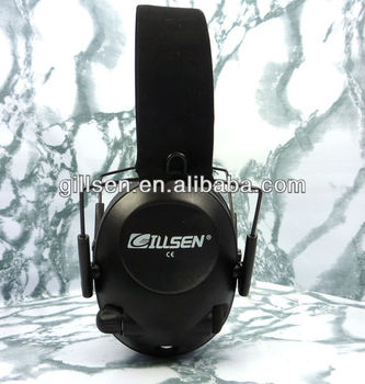 Electronic sound amplification shooting and hunting earmuff