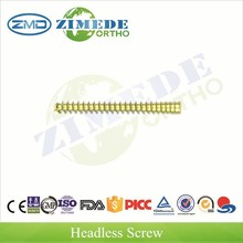 headless screw stainless steel screws and plates titanium dental implant screw