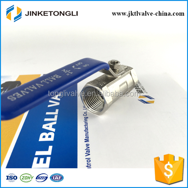 JKTL1B016 spring loaded 1pc gas rb pn40 stainless steel ball valve components