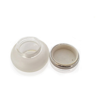 Frosted Cosmetic glass jar with screw top lid