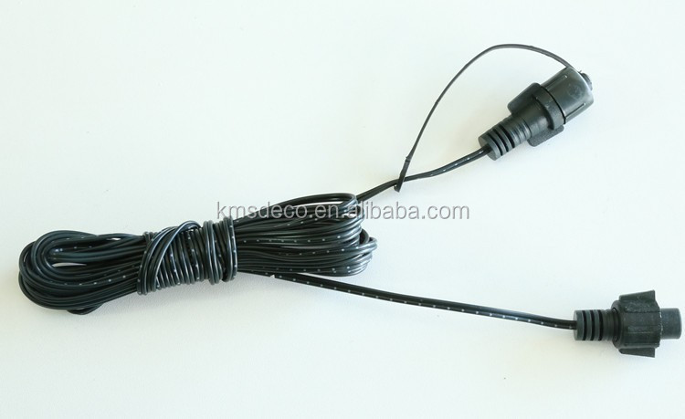 low voltage connectable extension wire 5m green color