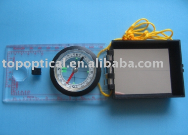 map compass 1:25000 with mirror lid and inch/centimeter scale
