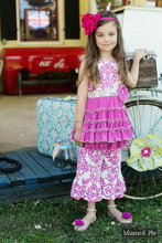 wholesale summer ruffled baby girl boutique clothing from china yiwu