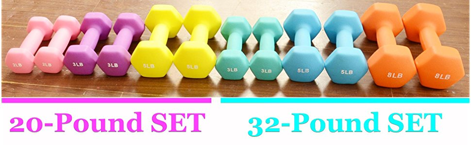 Fashion Fitness accessory Colorful Woman Dumbbell set with stand
