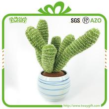 "7.5""Hot selling green tropical plants felt cactus plant artificial home decorations"