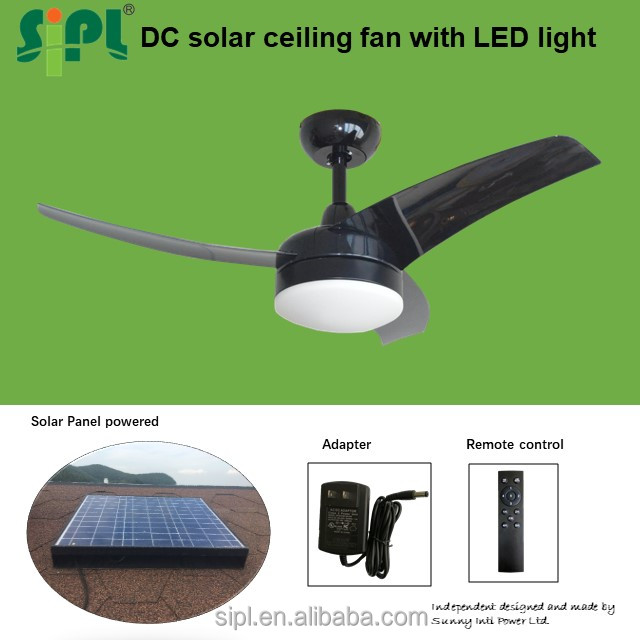 factory direct air conditioning powerful exhaust air fan 12 v 42 inch 35watt solar dc ac ceiling fan kit