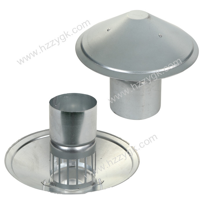 Waterproof Vent Pipe Cap Galvanized Steel Cowl Vents Roof Cowl Mushroom Air Vent For Kitchen