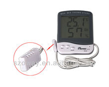 New Digital LCD Indoor Outdoor Thermometer Humidity Temperature Hygrometer White