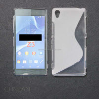 For Z3 Compact S Line tpu case, New S-Type Design Soft TPU Case For Sony Z3 Compact Z3 Mini