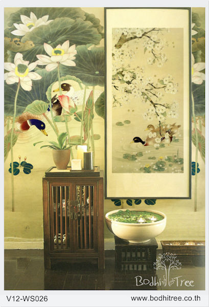 China Palace Wall Art Roller Blind and upholstery